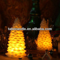 paraffin wax christmas tree shaped candles/christmas craft candle