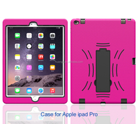 2015 New design 3 in 1 PC silicone belt clip hard case rugged case for apple ipad pro 12.9 inch paypal accept