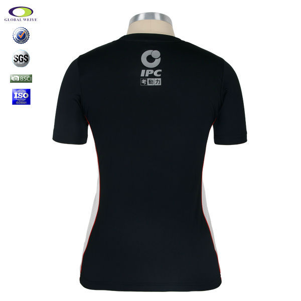 Fashion design ladies custom dry fit standing collar t for Custom dry fit shirts