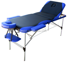 Super quality Adjustable 3 section Aluminum Massage Table with color mixed