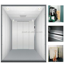 JSSA brand cargo elevator lift, with sliding elevator door