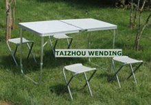 al aire libre de aluminio mesa plegable mesa de camping de barbacoa de mesa