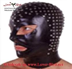 leather mask latex hood mask face mask hood