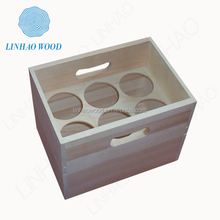 factory supply unfinished personalized wooden wine box with top