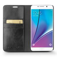 QIALINO Quality Assured Hand Maded Top Layer Leather Mobile Phone Case For Samsung For Galaxy Avent Note 5