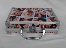 Beautiful woman pattern fashion PVC leather cosmetic case RZ-SC-077