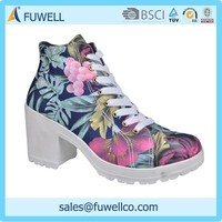 Fancy high heels design popular style women shoes boots