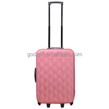 "18"" elegant wave texture soft polyester suitcase luggage"