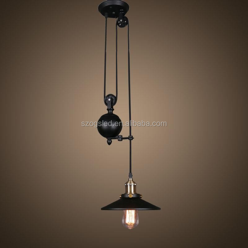 Vintage Industrial Pulley Light