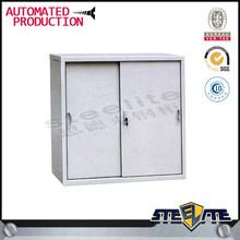 Low Steel Filing Cabinet with sliding door