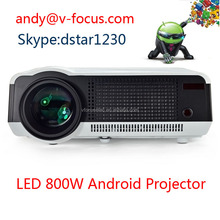 Wireless Connect to iPhone/iPad Android 4.2 Full HD 4000lumens LED Projectors with perfect display effects!