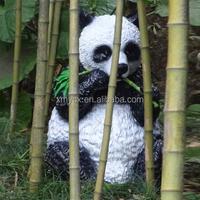 hand painting outdoor decor polyresin animal panda figurine