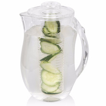 plastic water jug/plastic water pitcher/acrylic water pitcher, Beverage Pitcher with Interchangeable Ice & Infuser Cores