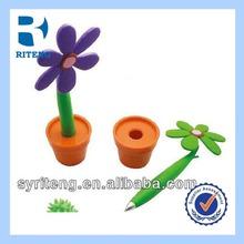 Hot sale cheap novelty flower plastic ball pen for promotion