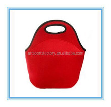 factory price red neoprene lunch bag for promotional