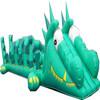 Gaint Crocodile design inflatable slip with slide for kids