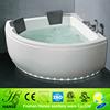 New triangle shaped bathtub for fat people,deep corner bath tub dimens