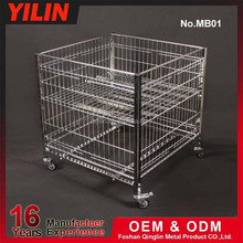 customize metal storage cage with wheels