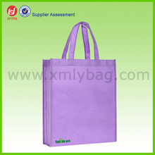 Purple 600D Polyester Shopping Bags With Logo