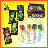 Fluorescent Popsicle Fruity Milk Candy/Ice Cream Hard Candy Lollipop With Glow Stick