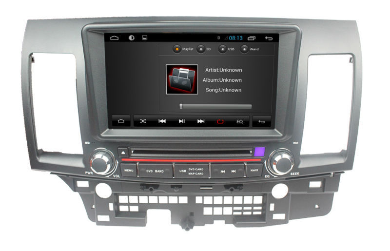 Quad core pure android 4.4 mitsubishi lancer car stereo with gps 3g wifi android! good quality ...