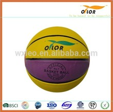 official size and weight PVC leather outdoor basketballs