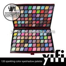 New Fashion! 120 sparkling color eyeshadow palette eyeshadow applicator accessory