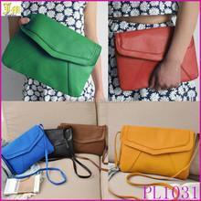 2015 Fashion Women Messenger Bag PU Leather Envelope Shoulder Crossbody Bag Vintage Small Clutch Bag
