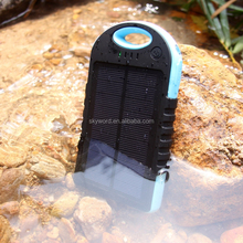 Hottest sale provite/OEM dual-USB Waterproof IP6 12000mah travel Solar Power Bank Battery Charger for mobile phone