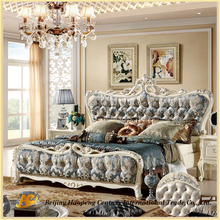 8808 wholesale neo-classic elegant leather bedroom bed