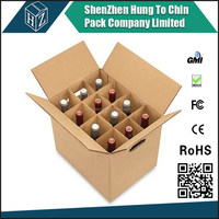 Company brand and logo print Factory products corrugated packaging use custom made cardboard beer bottle box