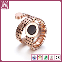 snake shaped finger design ring