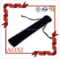 popular high quality custom printed softly velvet drawstring pen bag