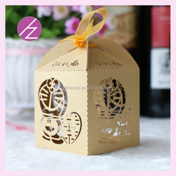 Laser cut doraemonpattern candy box /baby shower gift box supplies and wholesaler wedding favor boxes TH-208