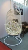 2014 PE garden rattan swing hanging chair