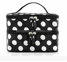 New Hot selling promotional cosmetic travel bag with mirror