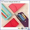 Multicolor pen pouch/genuine leather pen case/pencil bag