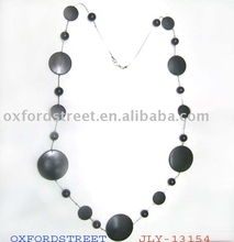 fashion long wooden necklace for 2012