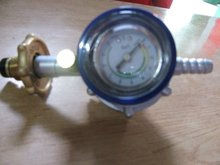 LPG Regulator with safety device and gauge