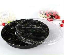 export hot sale embossing round sushi container/sushi box /pastry box