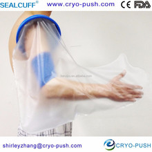 Waterproof cast cover and bandage protector for adult long arm