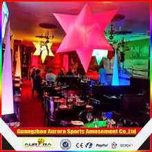 Best popular Party/event/club decorative multi-color inflatable star