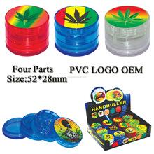 2015 hot venta custom venta al por mayor plástico hierba del <span class=keywords><strong>tabaco</strong></span> grinder JCG001