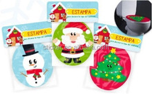 2015 newest Toliet cover decoration christmas sticker highquality coverings decoration