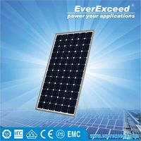 EverExceed High Quality 160w Monocrystalline Solar Panel made of Grade A solar cell with TUV/VDE/CE/IEC certificates