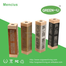 Wholesale China suppliers e cig mod GreenLiving unique 18650 mechnical with USB charge mod