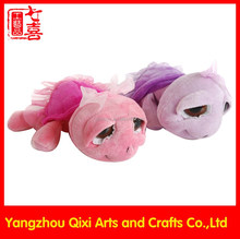 Factory sale pink and purple sea turtle plush toy stuffed toy soft plush big eyes turtle