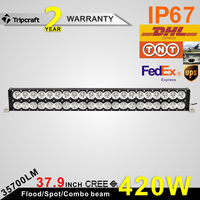 "2015 Chinese factory direct 420w auto led driving light bar 38""dual row led work light bar"