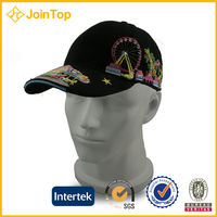 custom cheap funny embroidery baseball cap with wig
