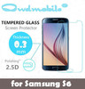 brand QWD for phone protector !9H Tempered glass screen protector for Samsung S6/S3 MINI/S4 s6 edge0.3mm round edge